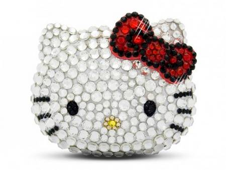 Hello Kitty Music Player With Swarovski Crystals