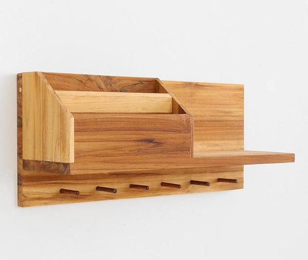 The entryway wooden wall shelf is priced at $149 USD. If you're