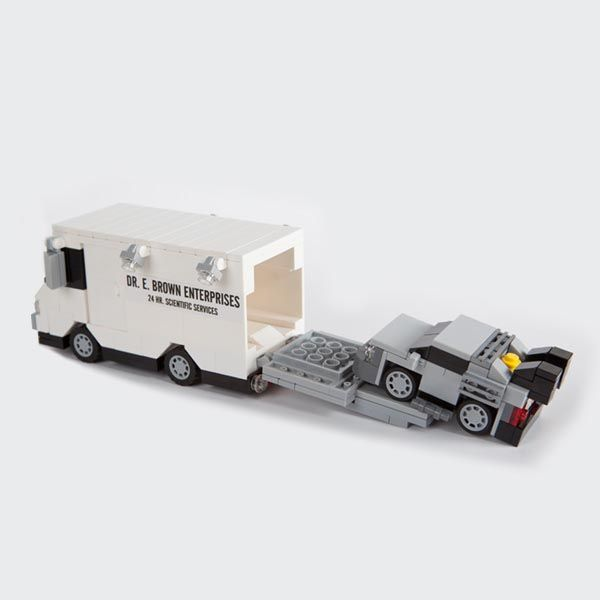 The Back to the Future Minimal LEGO DeLorean Can be Loaded in the Doc Brown's Van | Gadgetsin
