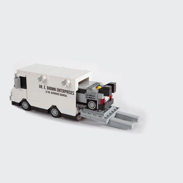 The Back to the Future Minimal LEGO DeLorean Can be Loaded ...