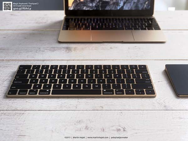 The Renderings Show off Gold iMac, Magic Keyboard and
