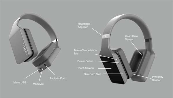 Vinci 3D Smart Wireless Headphones Powered by Voice ...
